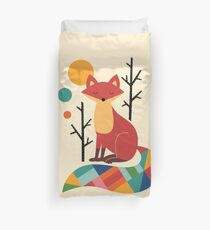 Rainbow Fox Duvet Cover