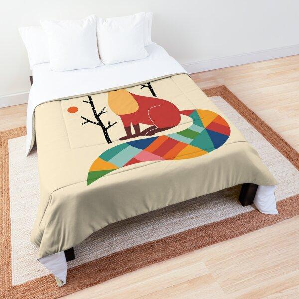 Rainbow Fox Comforter