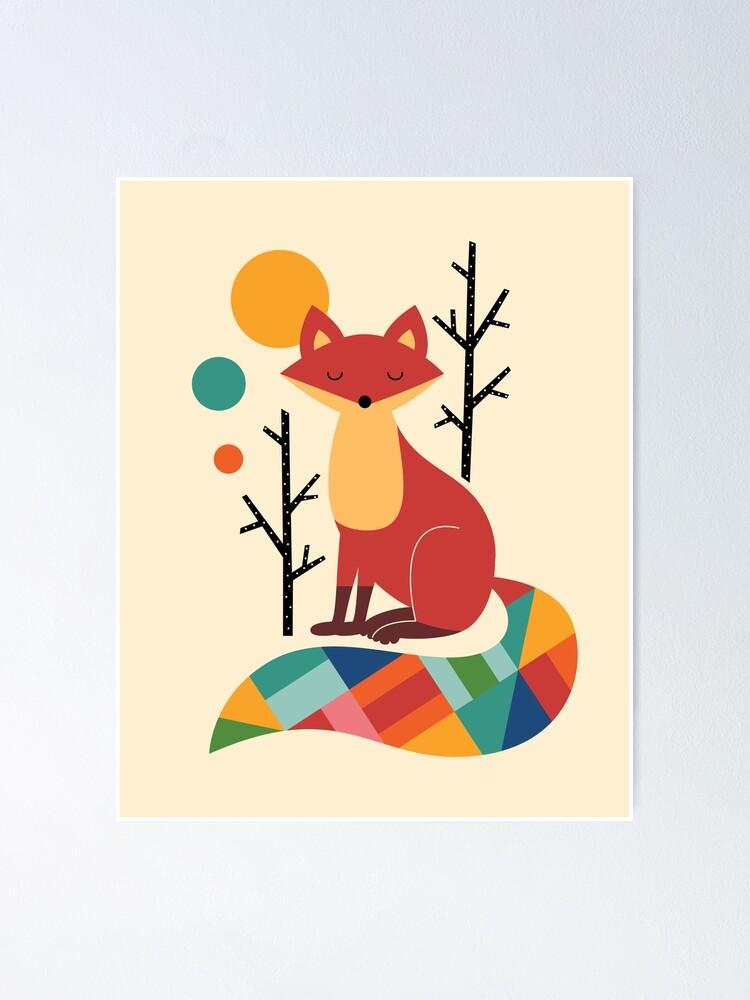 Alternate view of Rainbow Fox Poster