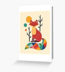 Rainbow Fox Greeting Card