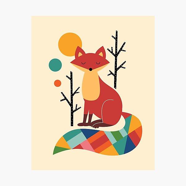 Rainbow Fox Photographic Print