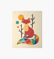 Rainbow Fox Art Board Print