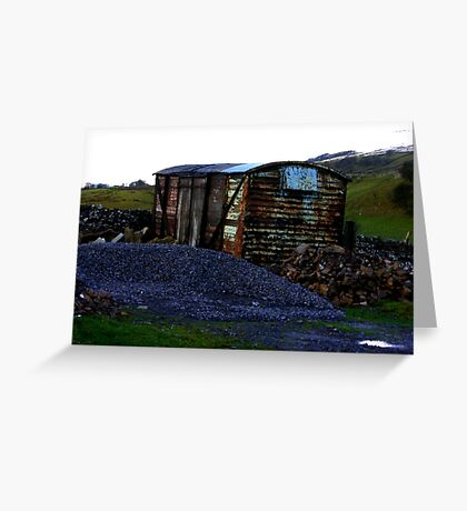 Abandoned Rail Wagon Greeting Card