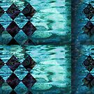 Turquoise Tile Fractal by Theresa Tunstall