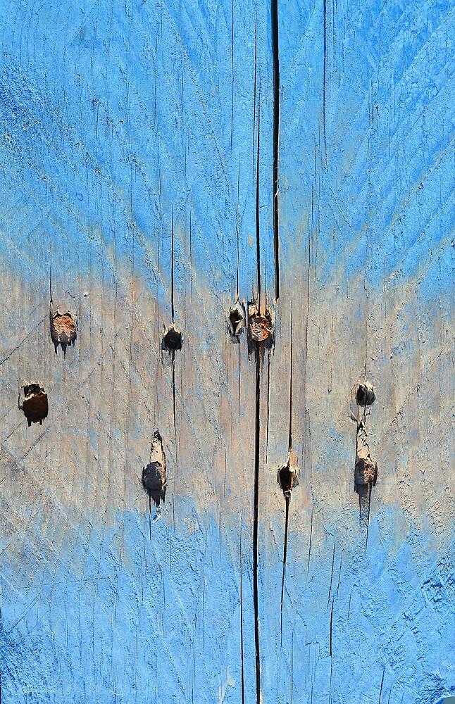 Blue Wood Abstract by Alexandra Lavizzari