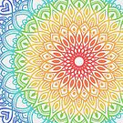 Rainbow Colored Mandala by Kelly Dietrich