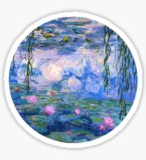 monet painting xs Sticker