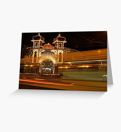 Ghost tram to Luna Park Greeting Card