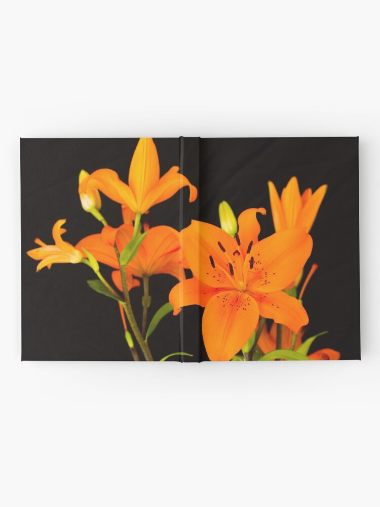 Alternate view of Orange lilies flowers Hardcover Journal