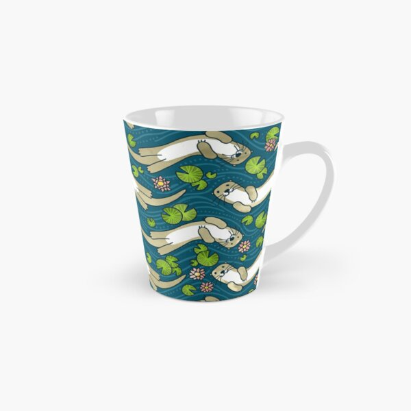 Otter and Water Lily   Cute Animal Pattern Tall Mug