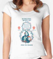 Camiseta entallada de cuello redondo día Internacional de la Mujer