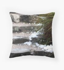 Cold Stair Throw Pillow