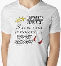 Cute 50th Birthday Humor Men's V-Neck T-Shirt