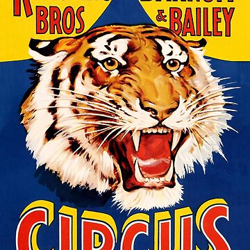 Circus promotional poster, wild tiger by AmorOmniaVincit