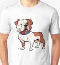 American bulldog cartoon dog T-Shirt