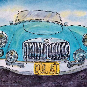 MG Blue Roadster by BAR-ART