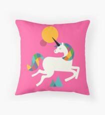 To be a unicorn Throw Pillow
