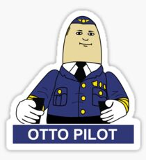 Otto the Inflatable Pilot Sticker