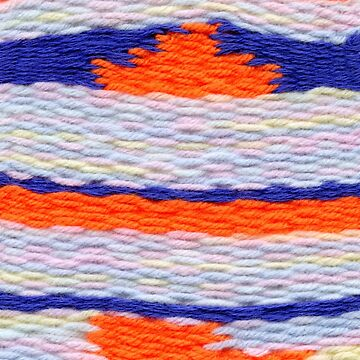 pattern with orange and blue stripes by embroiderrred
