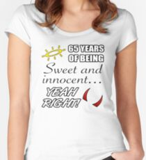Cute 65th Birthday Humor Women's Fitted Scoop T-Shirt