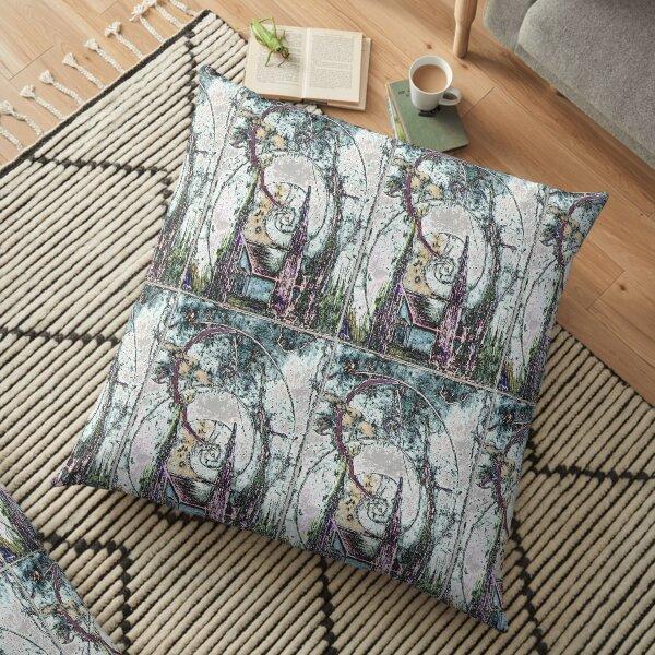 House in the Woods Moonlight Floor Pillow