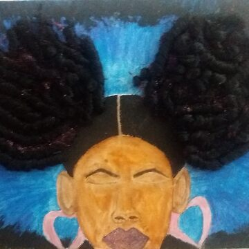 Brown Skinned Girl With Afro Puffs by ArtistOnDeck