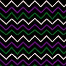Pink Purple Green Chevron Pattern by lasgalenarts