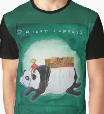 Big Panda Bear delivers gift packages like a Courier - Painting by Lisa Rotenberg Graphic T-Shirt