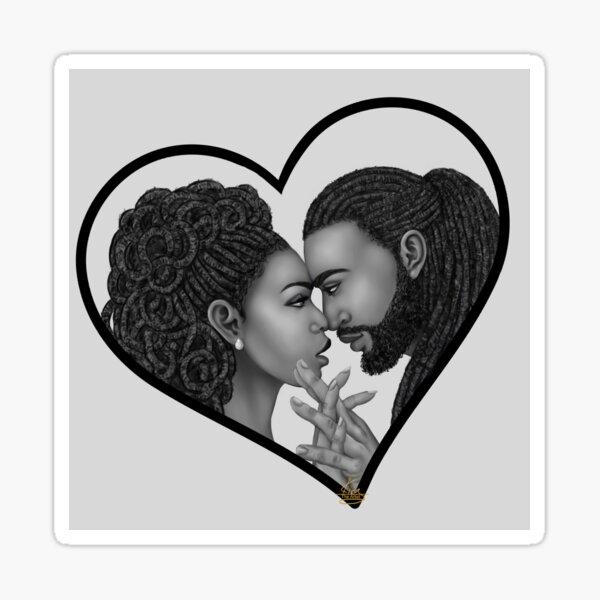 Close | Black Love Art Sticker