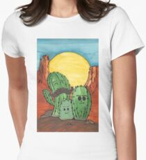 Cute Cactus Family Women's Fitted T-Shirt