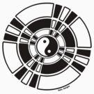 Mandala 42 Yin-Yang Back In Black  by sekodesigns