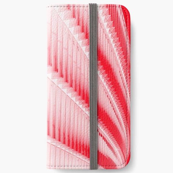 White and red design iPhone Wallet