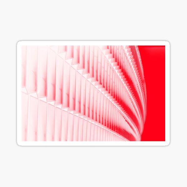 White and red design Sticker