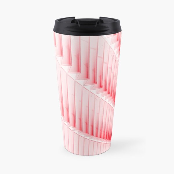 White and red design Travel Mug
