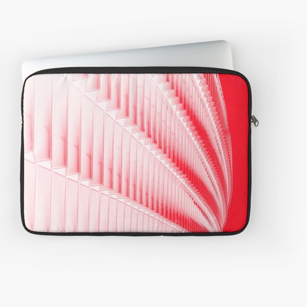 White and red design Laptop Sleeve
