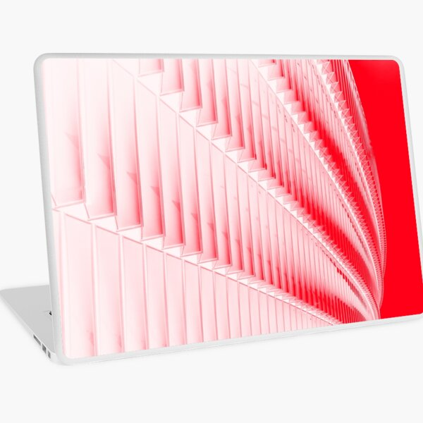 White and red design Laptop Skin