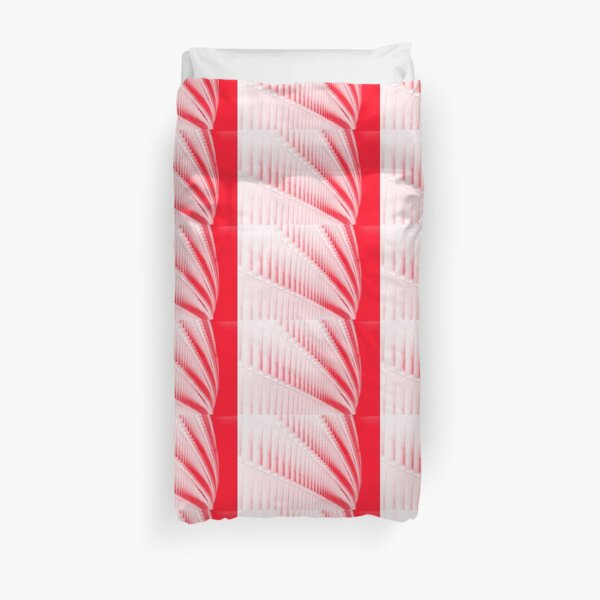 White and red design Duvet Cover