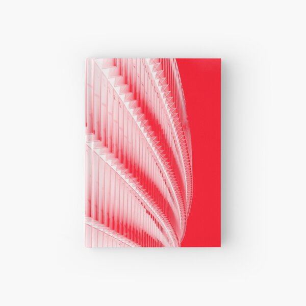 White and red design Hardcover Journal