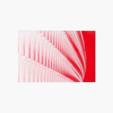 White and red design Art Board Print