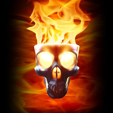 Flaming Skull by Wroxhawk
