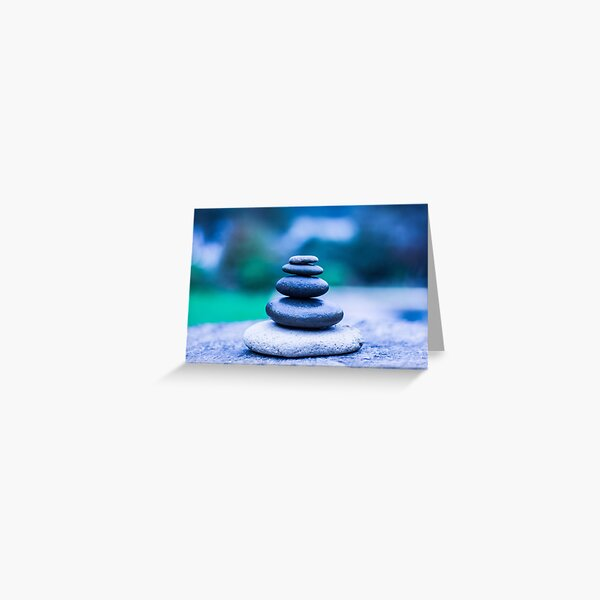 Zen stones blue Greeting Card