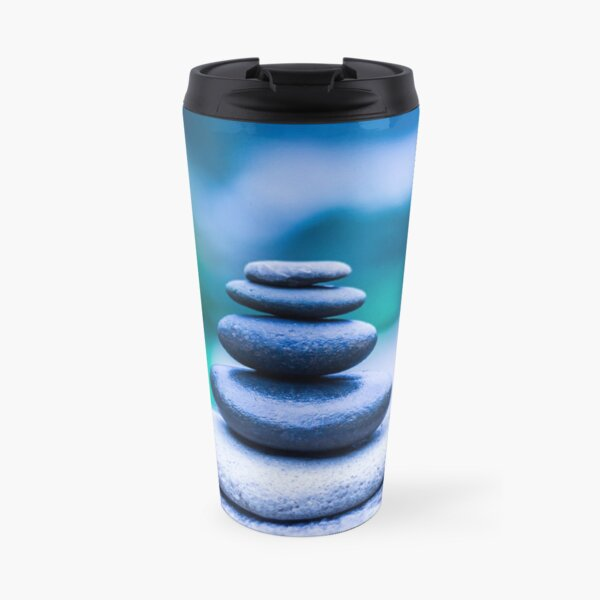 Zen stones blue Travel Mug