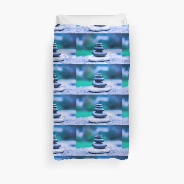 Zen stones blue Duvet Cover