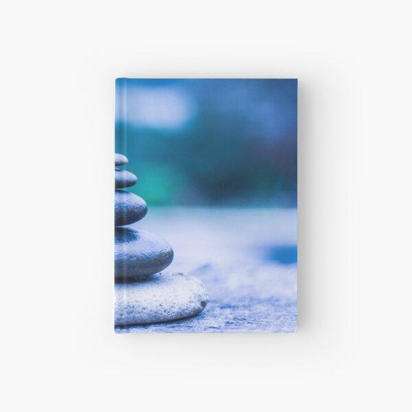 Zen stones blue Hardcover Journal
