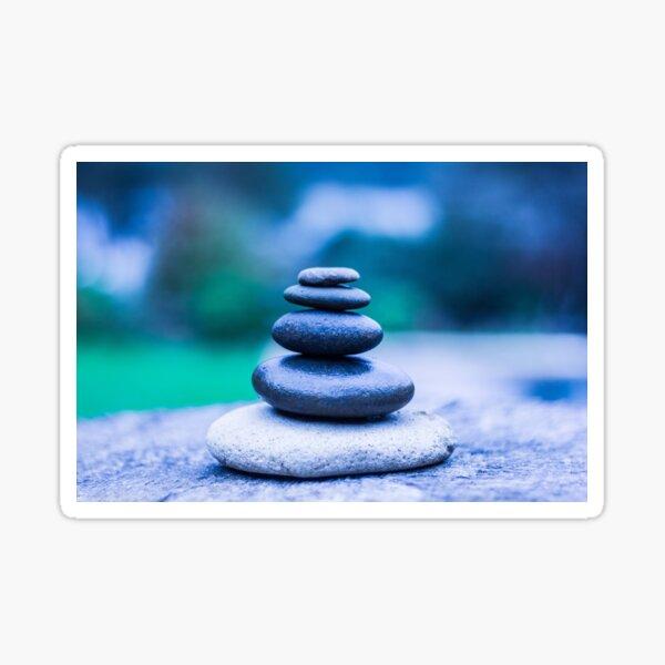 Zen stones blue Sticker