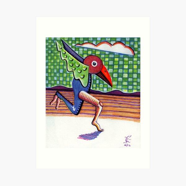 The Running Bird Art Print