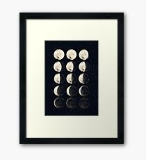 Moon Cycle Framed Print