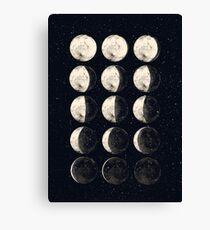 Moon Cycle Canvas Print