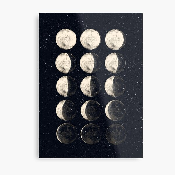 Moon Cycle Metal Print