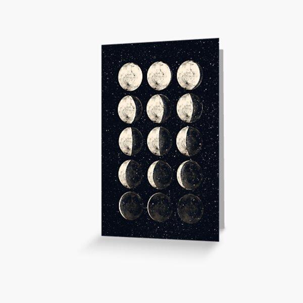 Moon Cycle Greeting Card